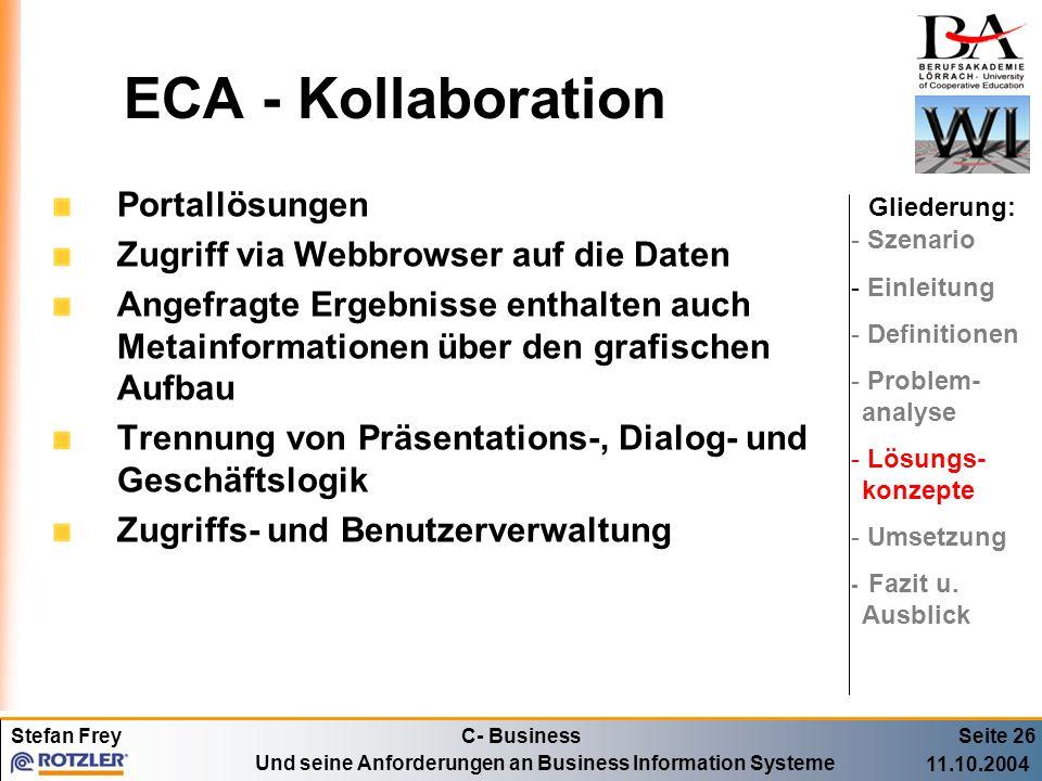 ECA - Kollaboration Portallösungen