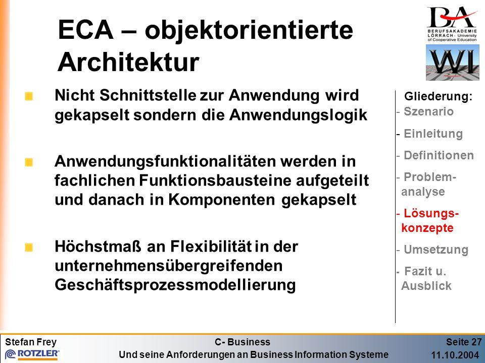 ECA – objektorientierte Architektur
