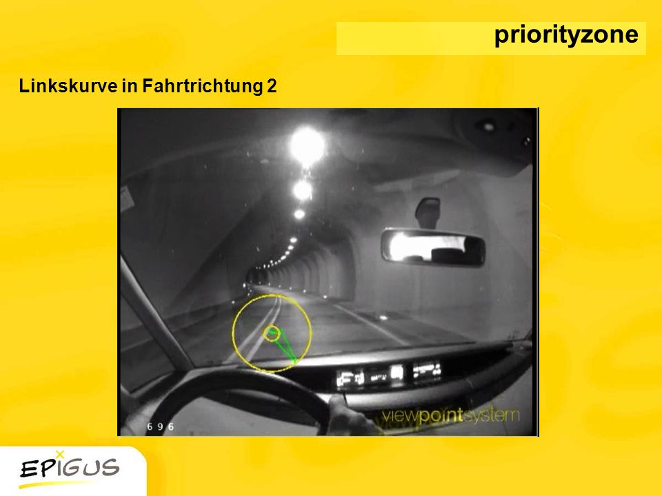 priorityzone Linkskurve in Fahrtrichtung 2