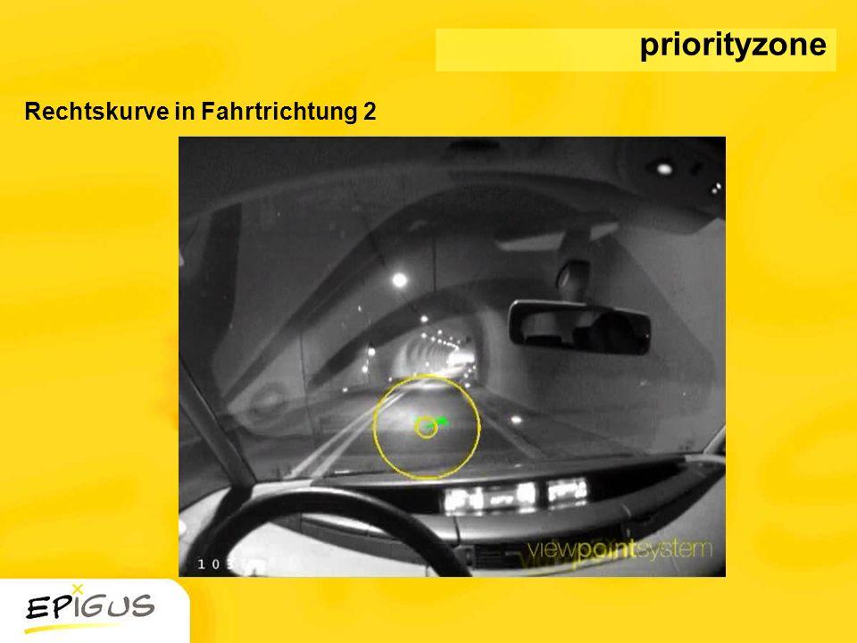 priorityzone Rechtskurve in Fahrtrichtung 2