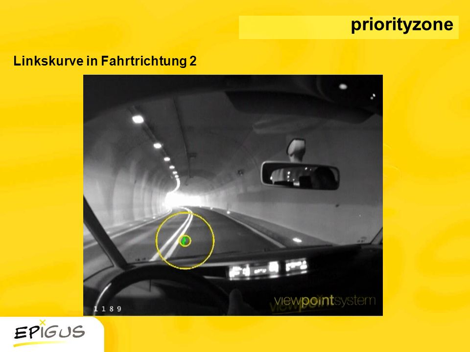 priorityzone Linkskurve in Fahrtrichtung 2
