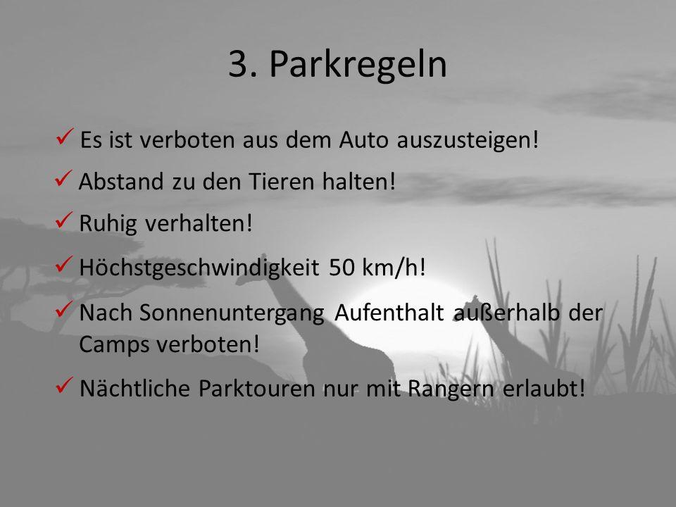 3. Parkregeln Es ist verboten aus dem Auto auszusteigen!
