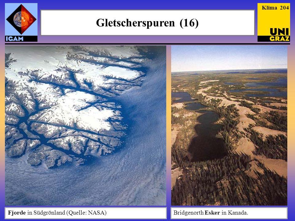 Gletscherspuren (16) Fjorde in Südgrönland (Quelle: NASA)