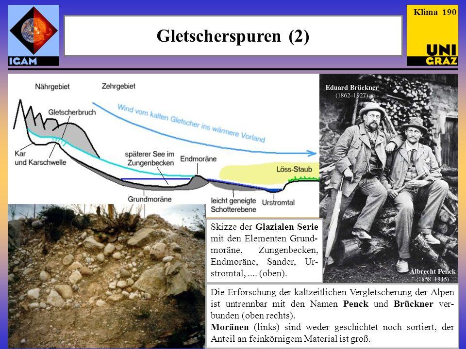 Klima 190 Gletscherspuren (2) Skizze der Glazialen Serie mit den Elementen Grund-moräne, Zungenbecken, Endmoräne, Sander, Ur-stromtal, .... (oben).
