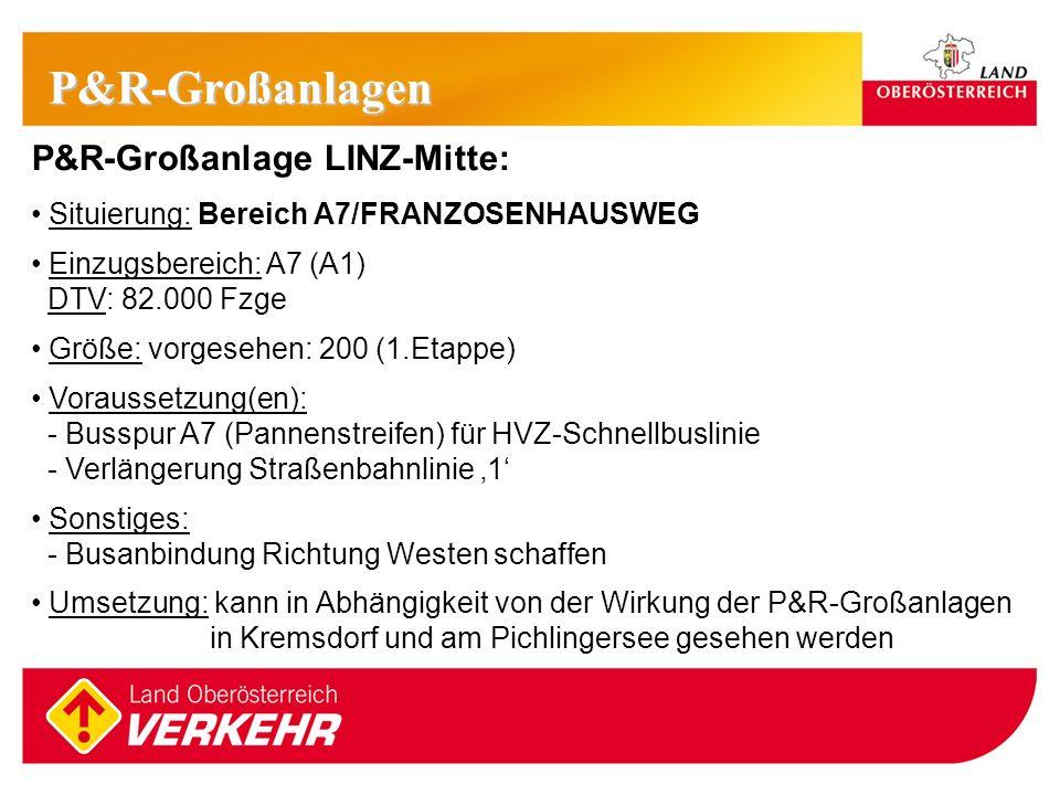 P&R-Großanlagen P&R-Großanlage LINZ-Mitte: