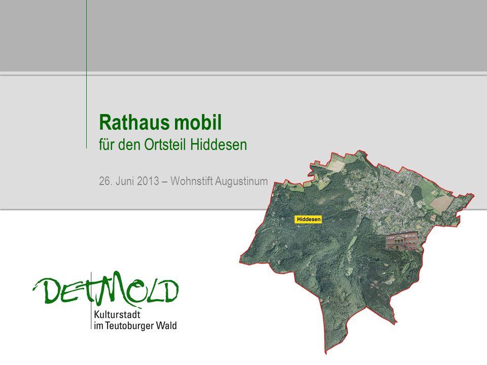Rathaus mobil für den Ortsteil Hiddesen 26