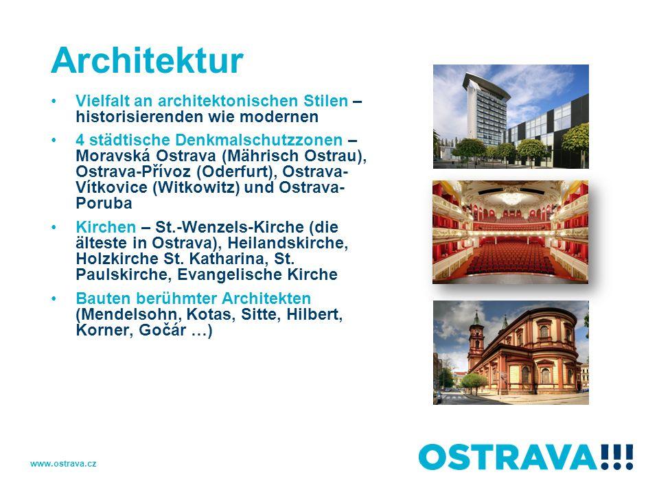 Architektur Vielfalt an architektonischen Stilen – historisierenden wie modernen.