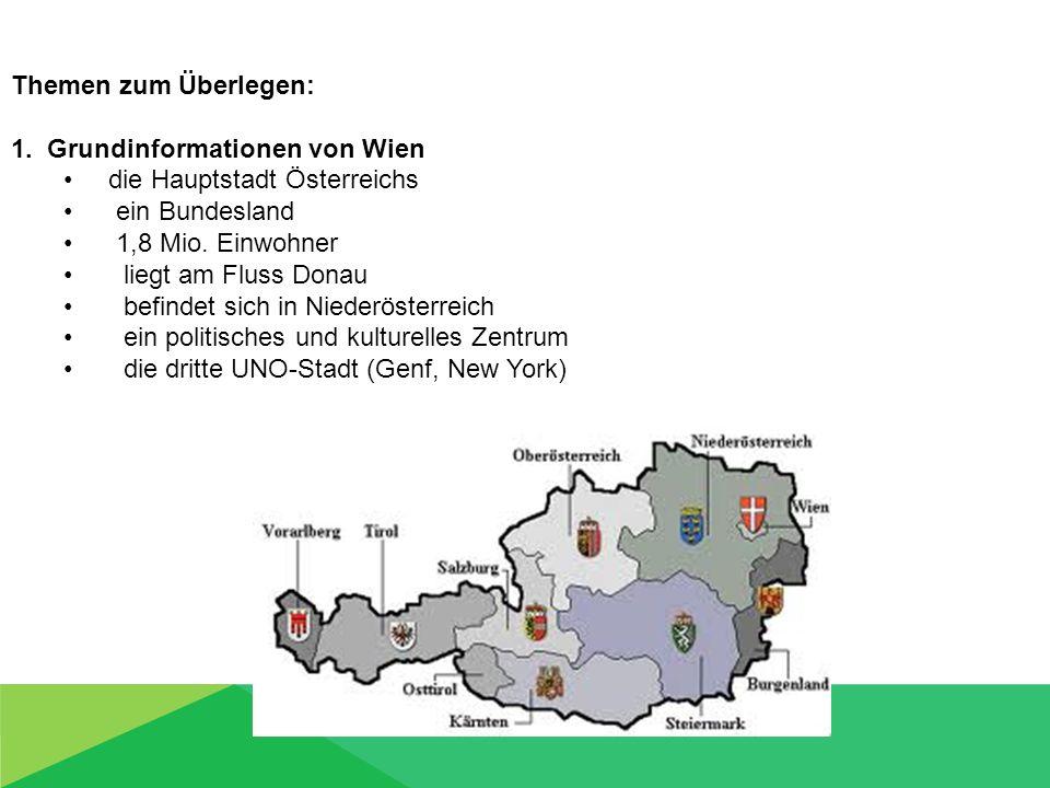 1. Grundinformationen von Wien die Hauptstadt Österreichs