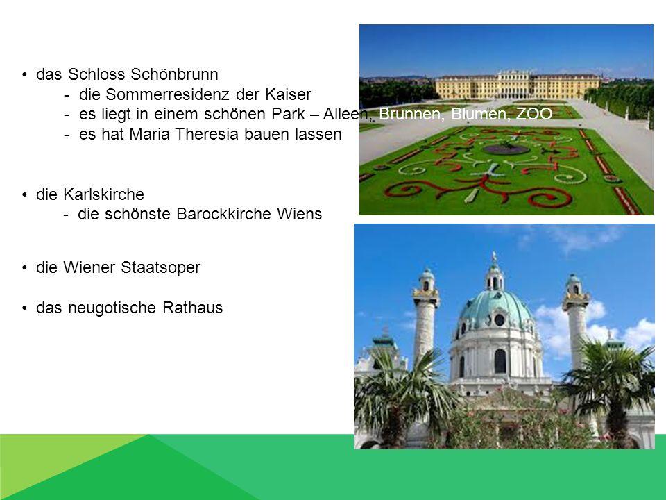 das Schloss Schönbrunn - die Sommerresidenz der Kaiser