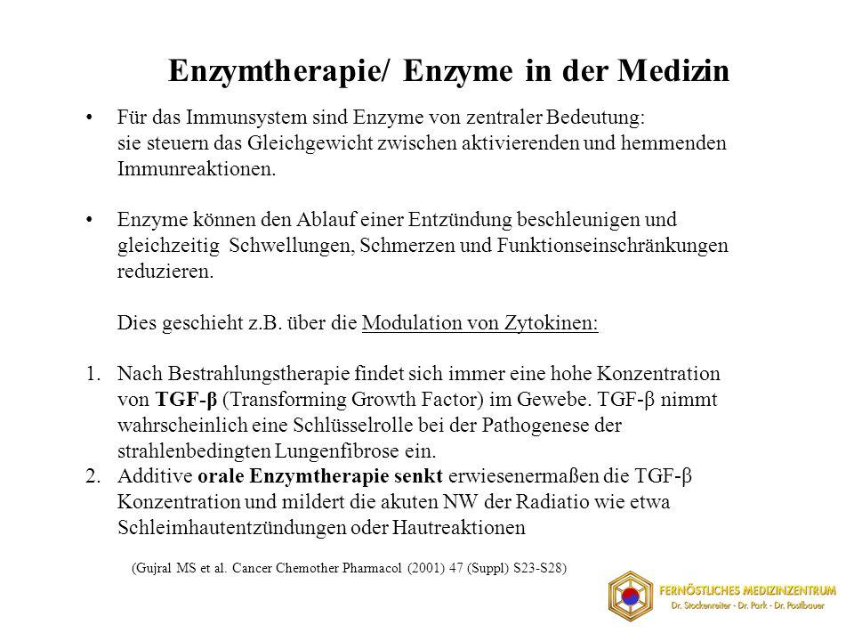 Enzymtherapie/ Enzyme in der Medizin