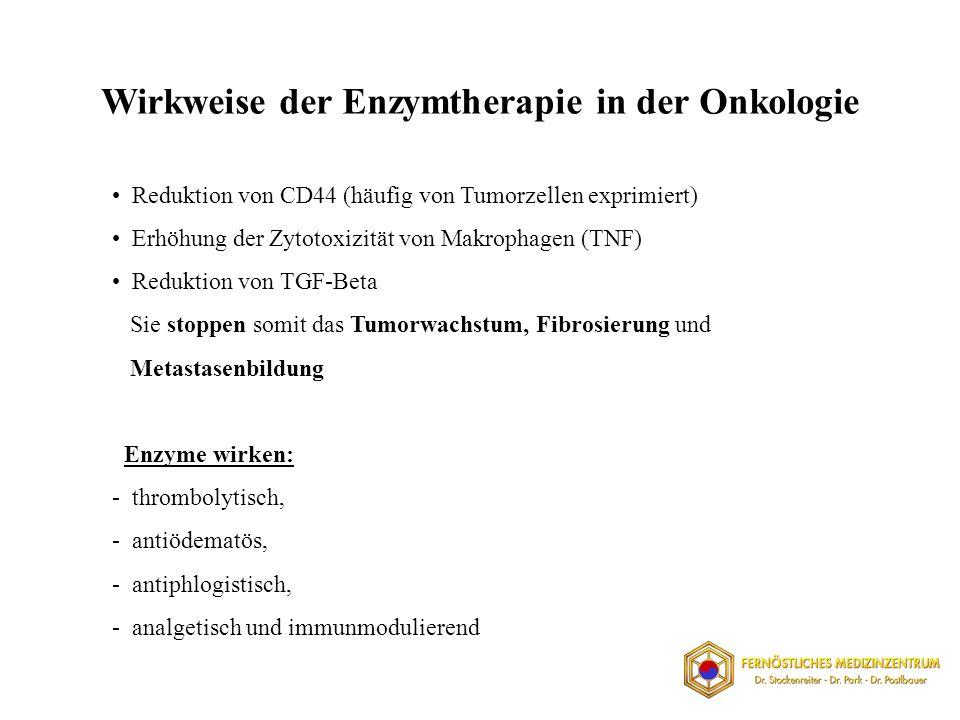 Wirkweise der Enzymtherapie in der Onkologie