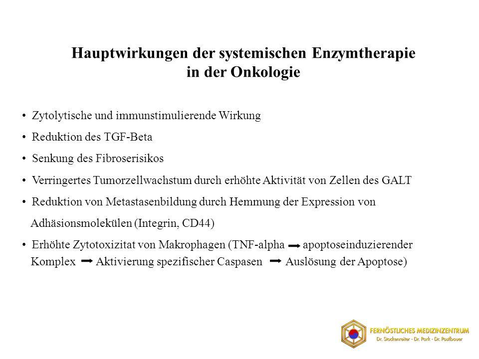 Hauptwirkungen der systemischen Enzymtherapie