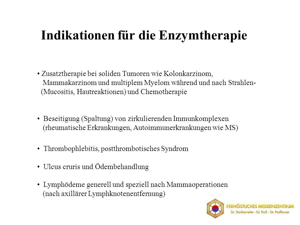 Indikationen für die Enzymtherapie