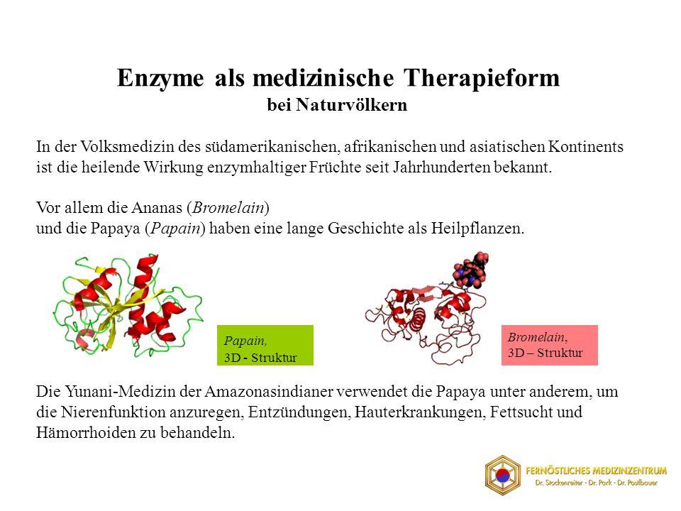 Enzyme als medizinische Therapieform