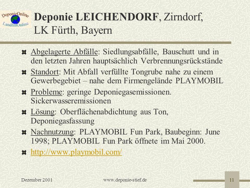 Deponie LEICHENDORF, Zirndorf, LK Fürth, Bayern