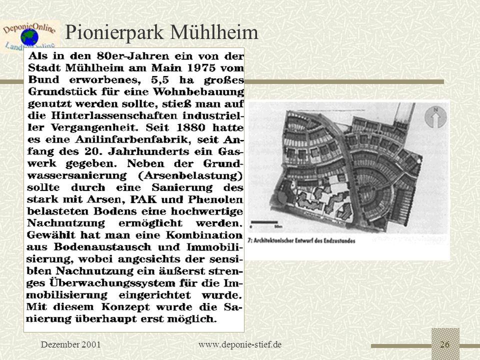 Pionierpark Mühlheim Dezember 2001 www.deponie-stief.de