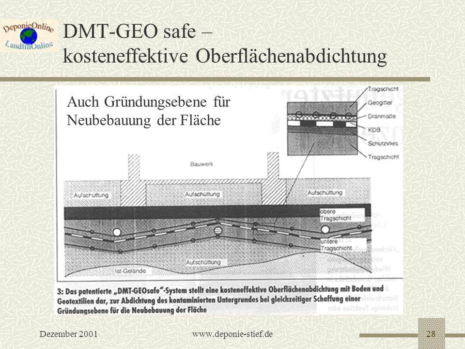 DMT-GEO safe – kosteneffektive Oberflächenabdichtung