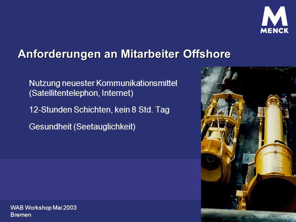 Anforderungen an Mitarbeiter Offshore