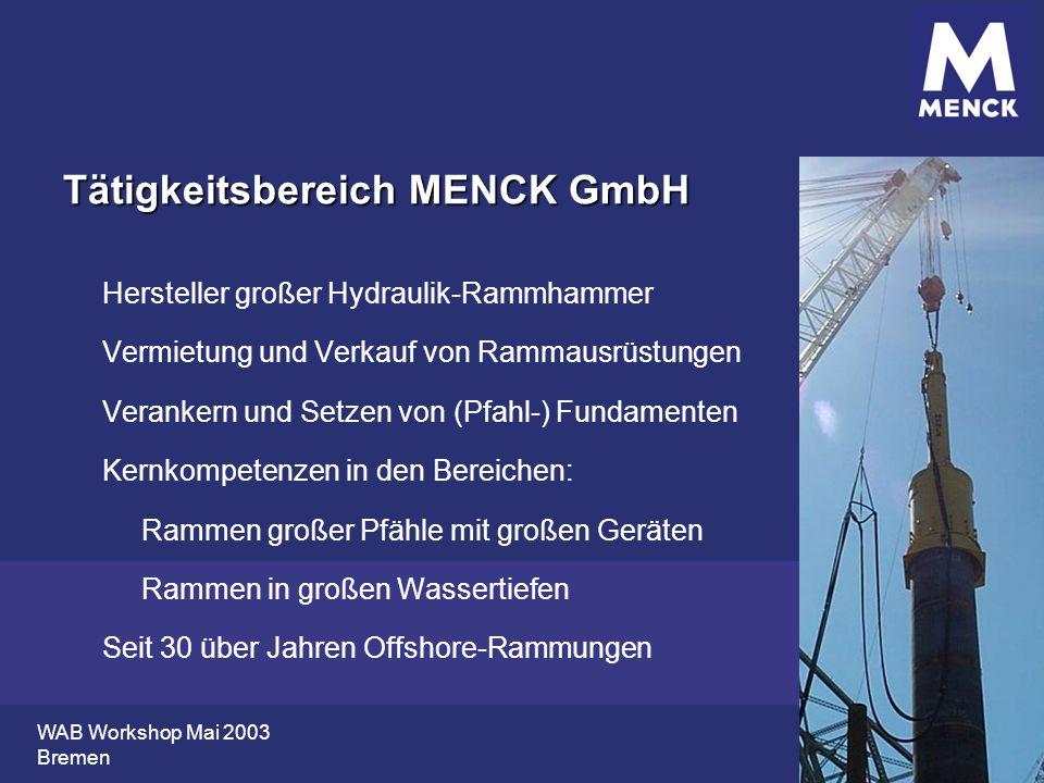 Tätigkeitsbereich MENCK GmbH