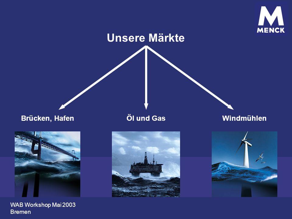 Unsere Märkte Brücken, Hafen Öl und Gas Windmühlen