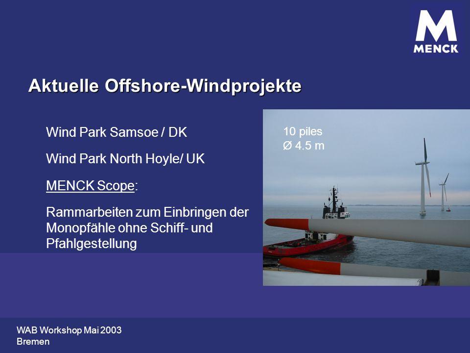 Aktuelle Offshore-Windprojekte