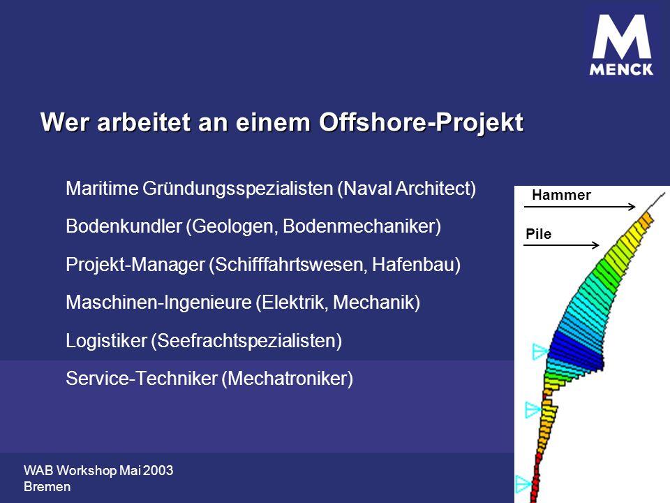 Wer arbeitet an einem Offshore-Projekt