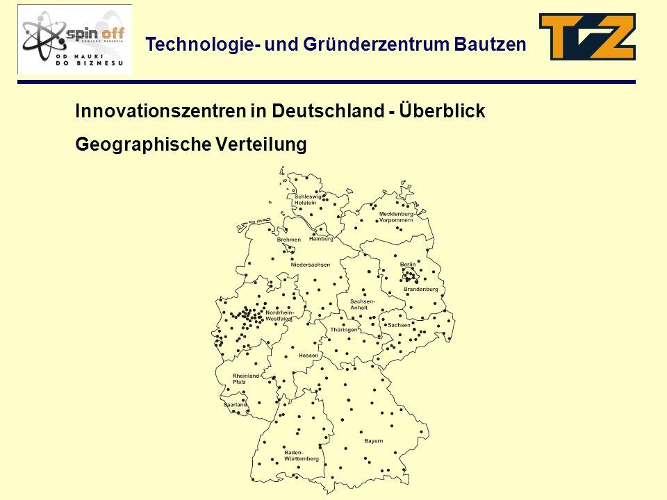 Innovationszentren in Deutschland - Überblick Geographische Verteilung