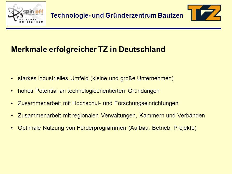 Merkmale erfolgreicher TZ in Deutschland