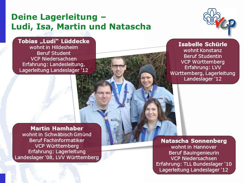 Deine Lagerleitung – Ludi, Isa, Martin und Natascha