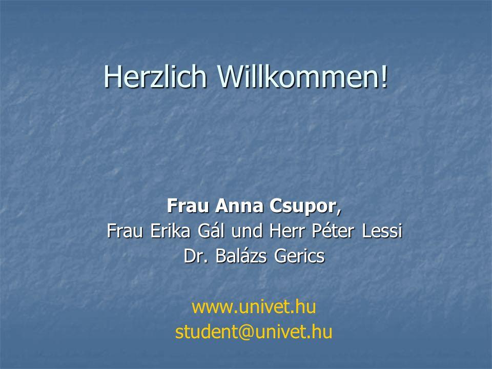 Frau Erika Gál und Herr Péter Lessi