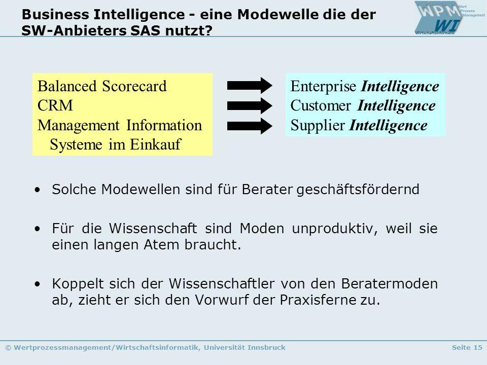Business Intelligence - eine Modewelle die der SW-Anbieters SAS nutzt