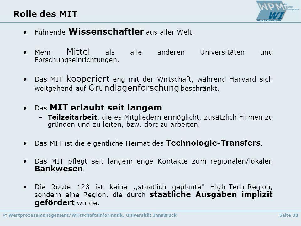 Rolle des MIT Führende Wissenschaftler aus aller Welt.