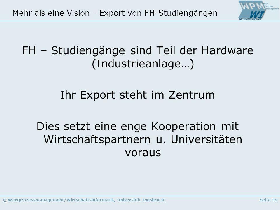 Mehr als eine Vision - Export von FH-Studiengängen