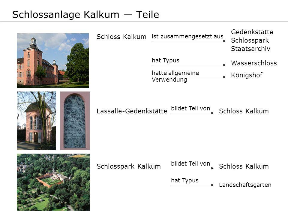Schlossanlage Kalkum — Teile