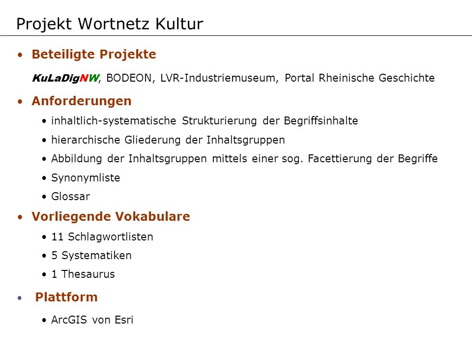 Projekt Wortnetz Kultur