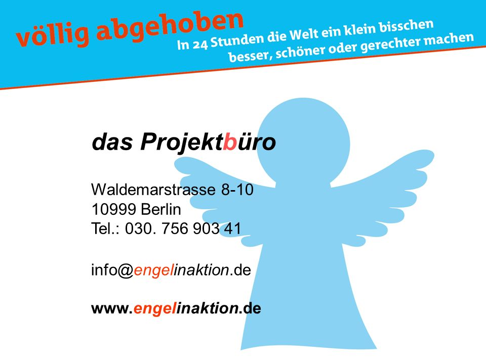 das Projektbüro Waldemarstrasse 8-10 10999 Berlin