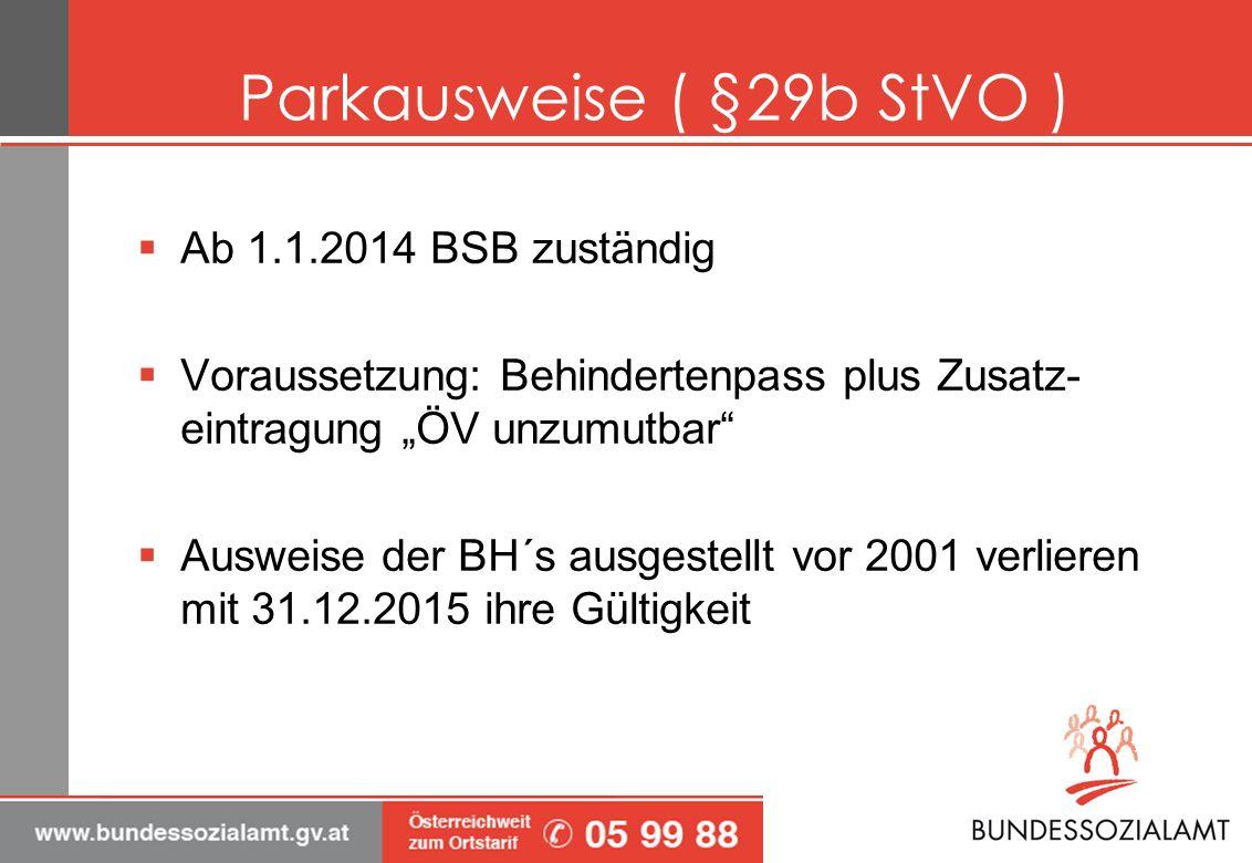 Parkausweise ( §29b StVO )