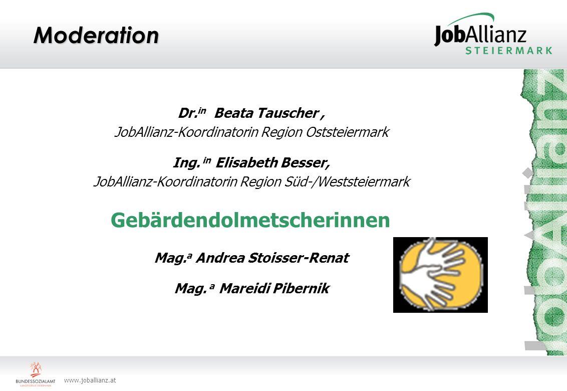 Gebärdendolmetscherinnen Mag.a Andrea Stoisser-Renat