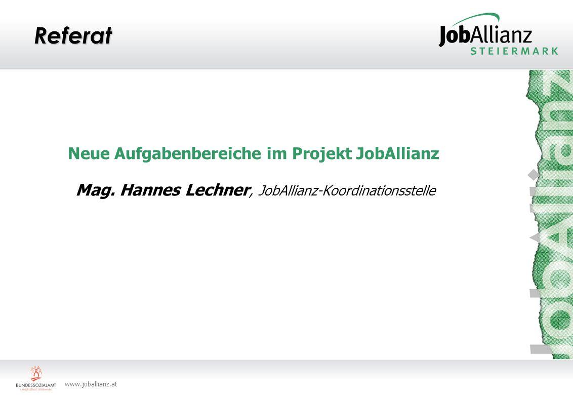 Neue Aufgabenbereiche im Projekt JobAllianz