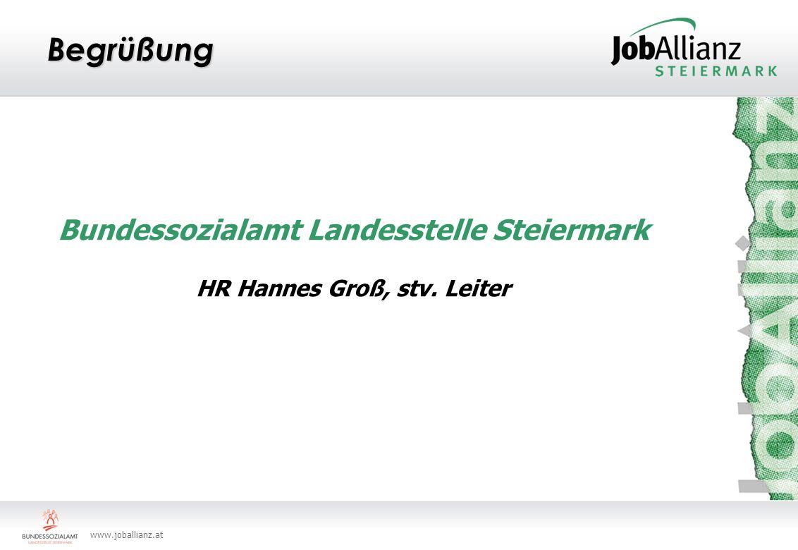 Bundessozialamt Landesstelle Steiermark HR Hannes Groß, stv. Leiter