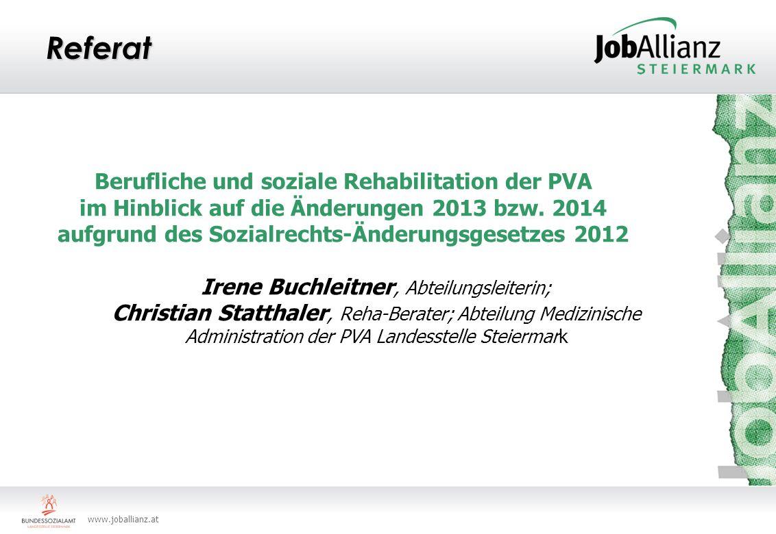 Referat Berufliche und soziale Rehabilitation der PVA