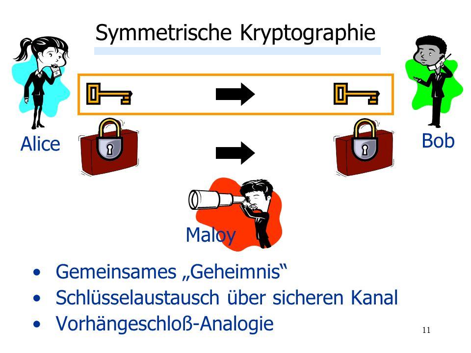 Symmetrische Kryptographie: Schwächen