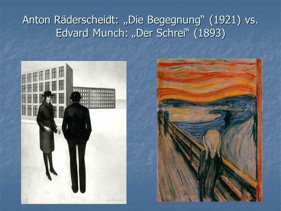 """Anton Räderscheidt: """"Die Begegnung (1921) vs"""