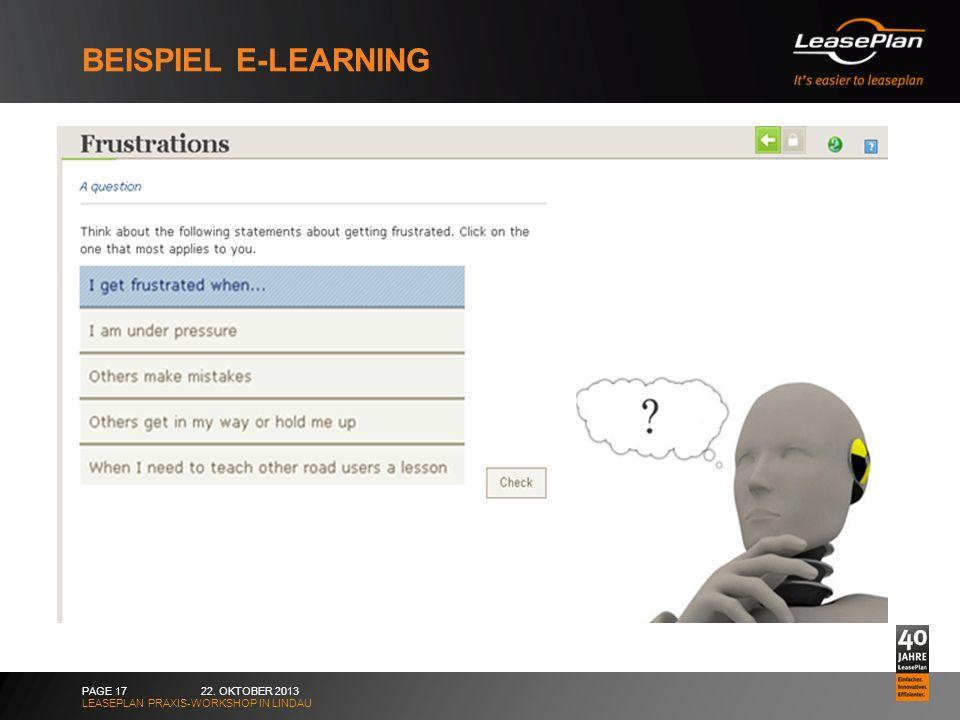 Beispiel E-learning 22. Oktober 2013