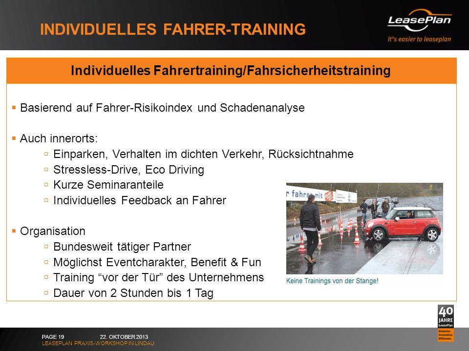 Individuelles Fahrer-training