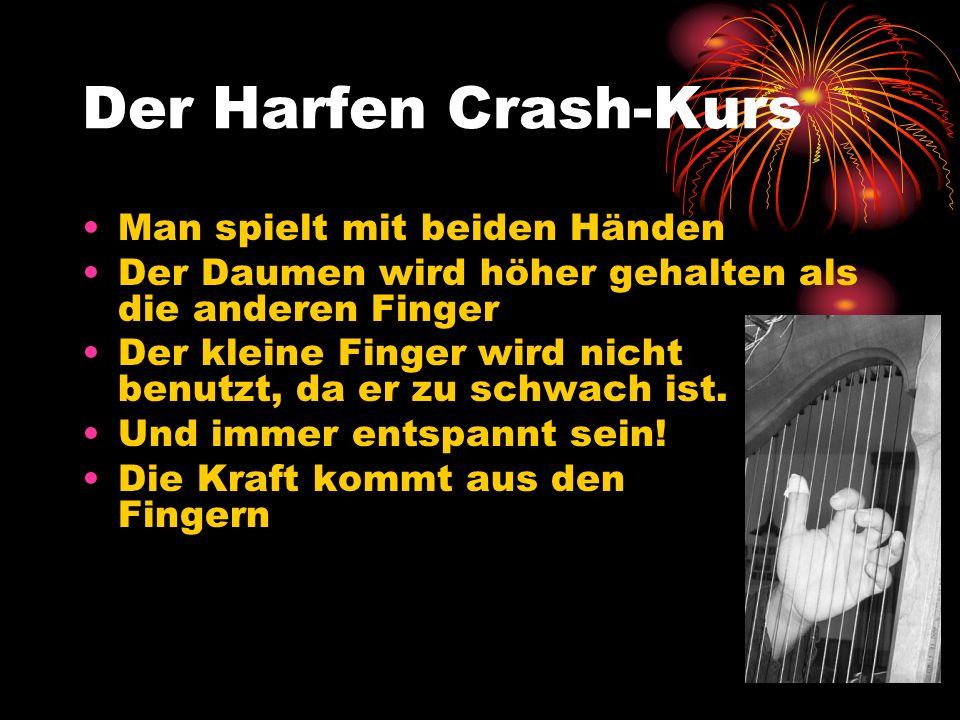 Der Harfen Crash-Kurs Man spielt mit beiden Händen