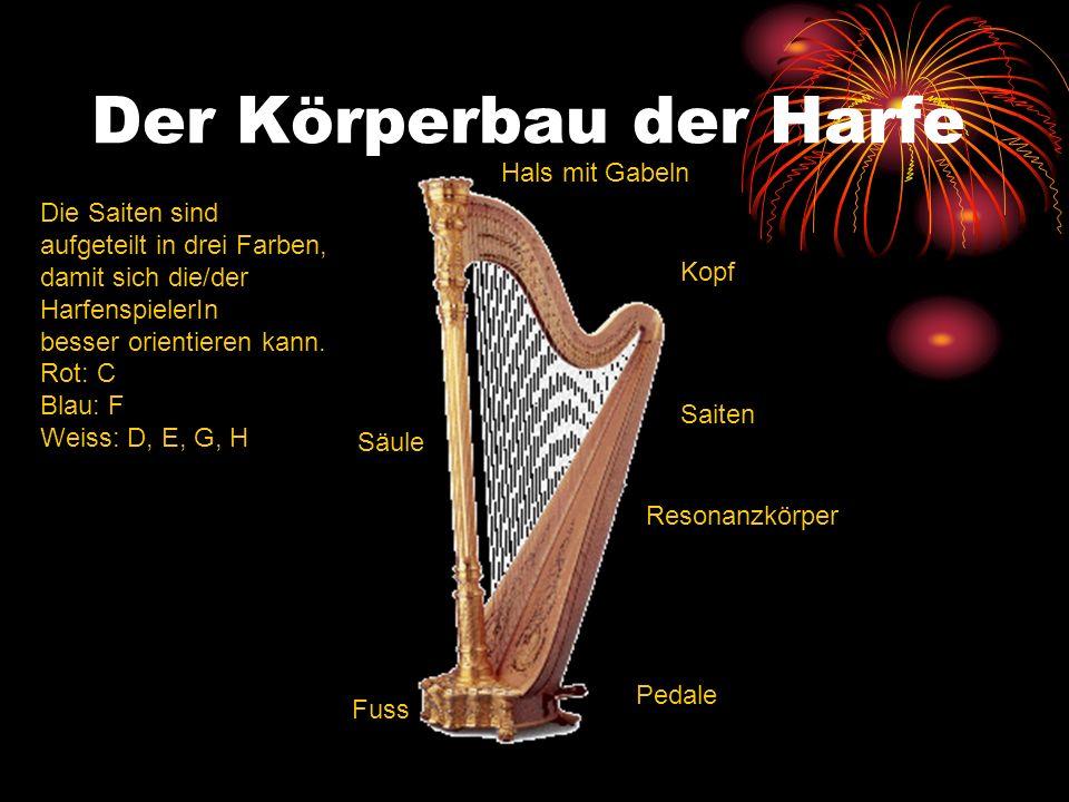Der Körperbau der Harfe