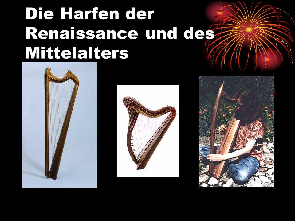 Die Harfen der Renaissance und des Mittelalters