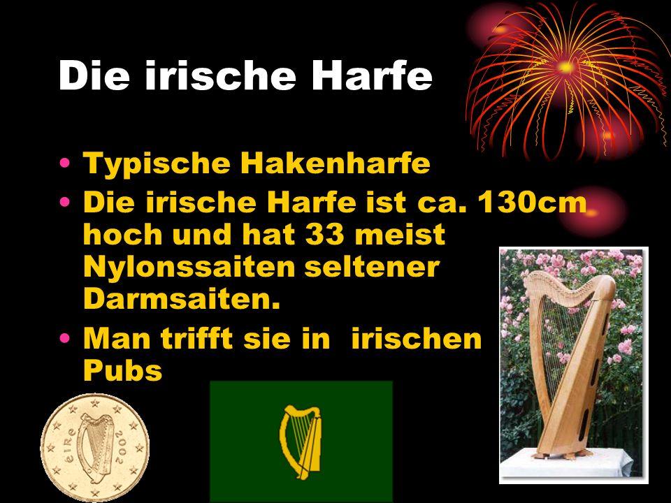 Die irische Harfe Typische Hakenharfe