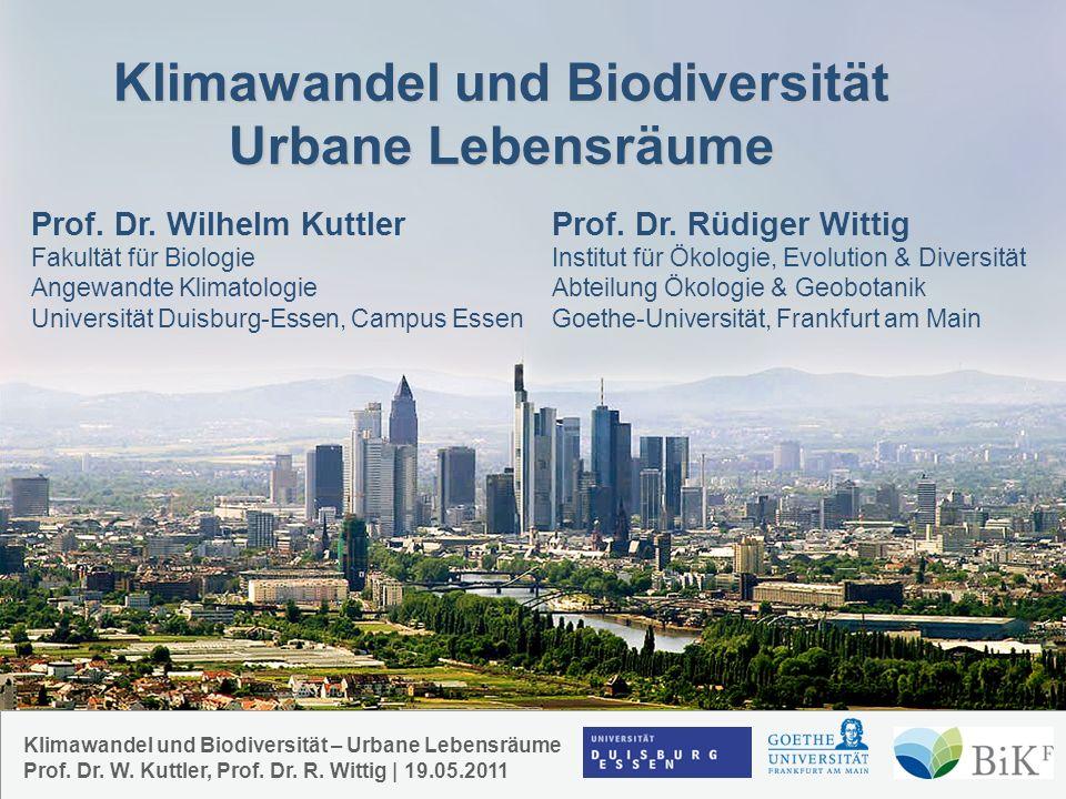 Klimawandel und Biodiversität Urbane Lebensräume